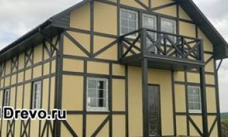 Брусковий будинок - каркасна технологія будівництва будинку з брусків