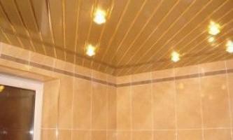 Ціни, фото і монтаж рейкової стелі у ванній кімнаті