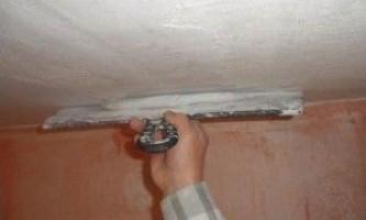 Що необхідно знати про шпаклювання стелі?