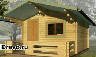 Дачні або садові будинки з міні-бруса - компактні будиночки