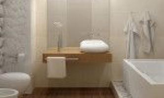 Дизайн ванної кімнати в білих тонах