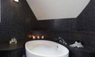 Дизайн ванної кімнати в чорному кольорі