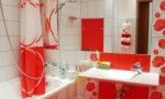 Дизайн ванної кімнати в червоних тонах