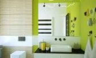 Дизайн ванної кімнати в зелених тонах