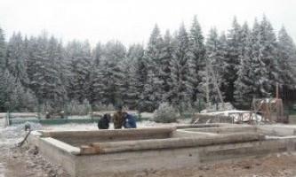 Фундамент взимку