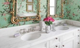 Гламурна ванна кімната в вікторіанському стилі