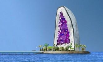Грандіозний дизайн-проект готелю у вигляді розсипу дорогоцінних каменів
