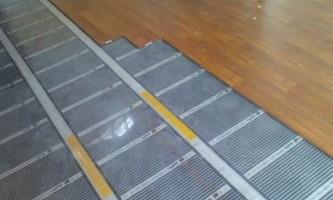 Інфрачервона тепла підлога під ламінат - особливості та монтаж