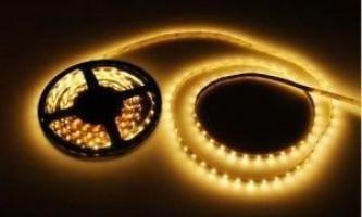 Використання світлодіодних стрічок в системах освітлення стелі