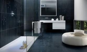Ефектна ванна: чорно-біла палітра