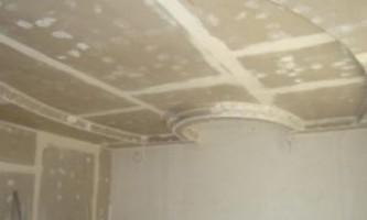Як здійснюється кріплення гіпсокартону до стелі