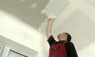 Як правильно штукатурити стелю - проводимо процес своїми руками