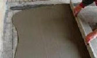 Як зробити цементну стяжку підлоги?