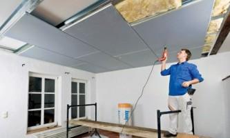 Як зробити стелю з гіпсокартону