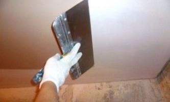 Як шпаклювати стелю з гіпсокартону?