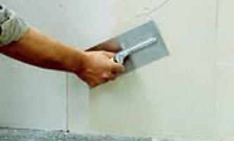 Як вирівняти стіни шпаклівкою?