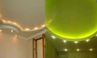 Красиві стелі з гіпсокартону - фото декоративних покриттів