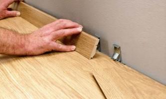 Кріплення плінтуса до підлоги - розглядаємо всі доступні варіанти