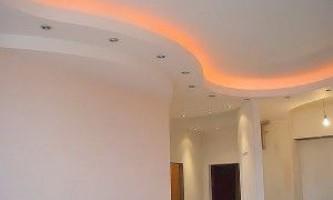 Підвісні стелі з гіпсокартону - прикраса приміщення своїми руками