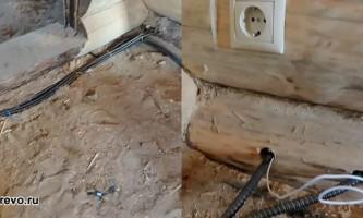 Особливості проведення електропроводки в дерев`яному будинку