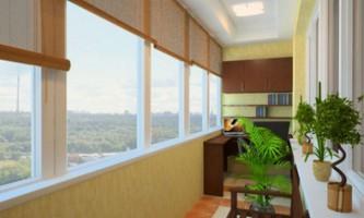Засклення балконів і обробка їх різними матеріалами