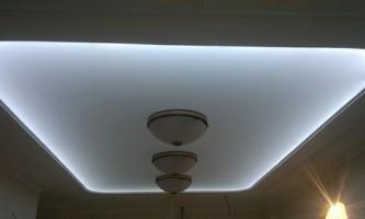 Підсвічування стелі світлодіодною стрічкою
