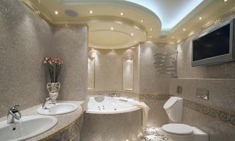 Підвісні стелі у ванній кімнаті