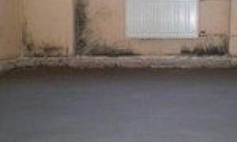 Напівсуха стяжка підлоги