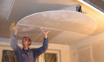 Стелі з гіпсокартону на кухні - естетичне стельове покриття своїми руками