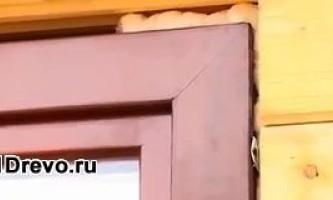 Правила монтажу пластикових вікон в дерев`яному будинку