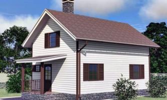 Каркасний будинок 6х8 з мансардою - проекти і будівництво