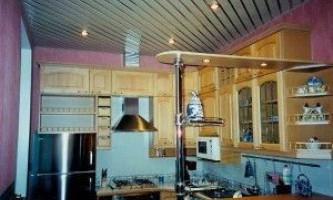 Рейкові стелі в кухонному інтер`єрі