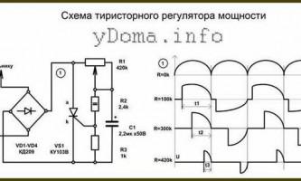 Схеми тиристорних регуляторів потужності