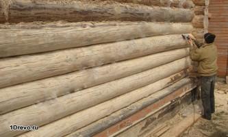 Шліфування дерев`яного будинку своїми руками