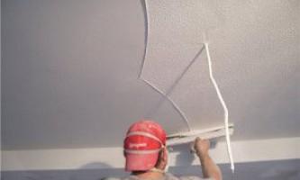 Шпаклівка стелі - як виконати її своїми руками