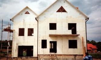 Стіни будинку з бетону в незнімної опалубки