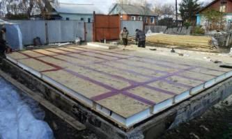 Будівництво будинків з сип. Вимоги до фундаменту