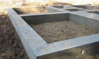 Будівництво стрічкового фундаменту своїми руками
