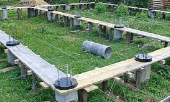Фундамент палі для будинку з бруса: технологія зведення