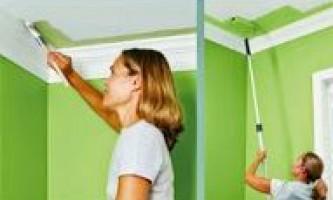 Технологія фарбування стелі з гіпсокартону