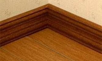 Установка дерев`яного плінтуса - всі нюанси проведення робіт