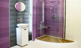 Ванна в фіолетових тонах